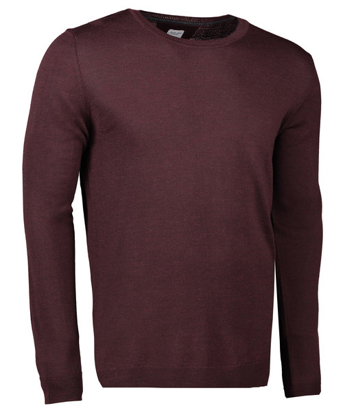 Seven Seas stickad pullover, Deep Red