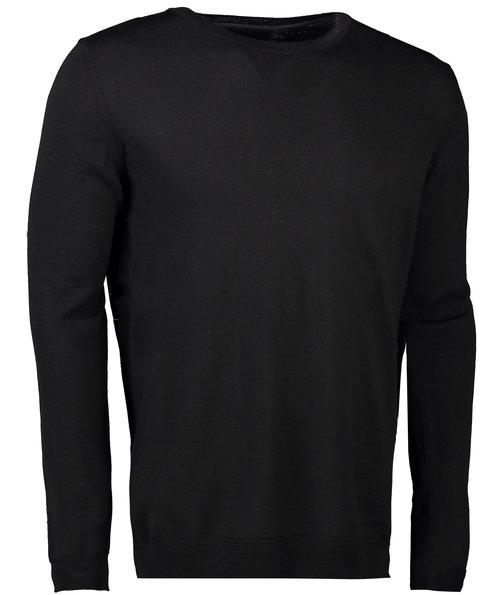 Seven Seas knitted pullover, Black