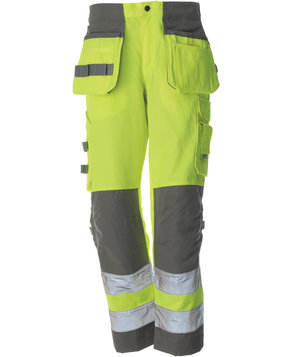 Colt craftsmens trousers, Hi-Vis Yellow/Grey