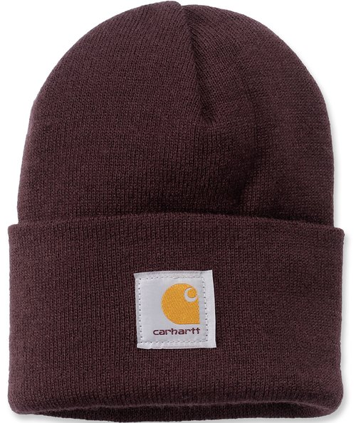 Carhartt Watch Strickmütze, Deep Wine