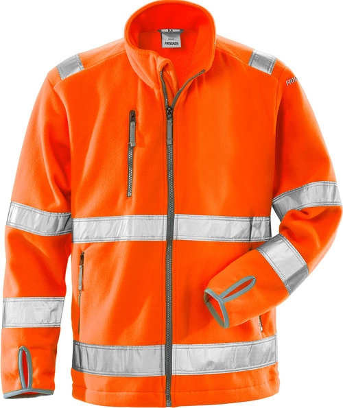 Fristads fleecejakke, Hi-Vis Orange