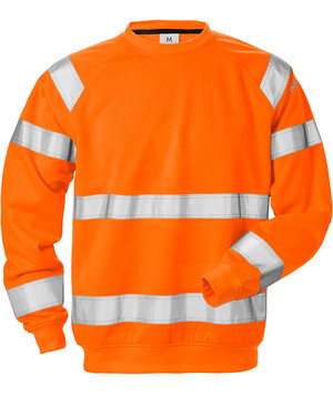 Fristads sweatshirt, Hi-Vis Orange