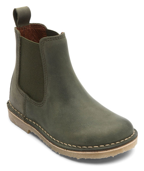 Bundgaard Cajs chelsea boots for kids, Army Green