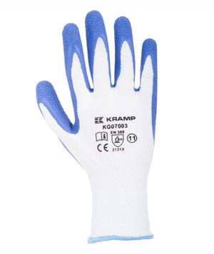 Kramp gardening gloves, White