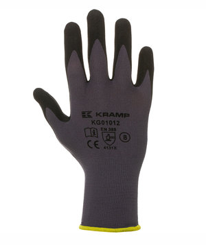 Kramp mounting gloves with oil resistant palm, Grey