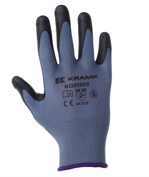 Kramp mounting gloves, Blue