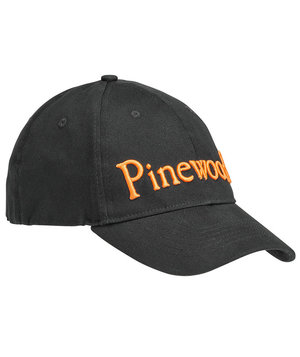 Pinewood Logo Flexfit cap, Black/Orange