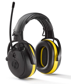 Hellberg Secure RELAX earmuffs with FM radio, Black/Yellow