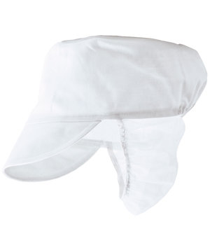 Portwest cap with hairnet, White