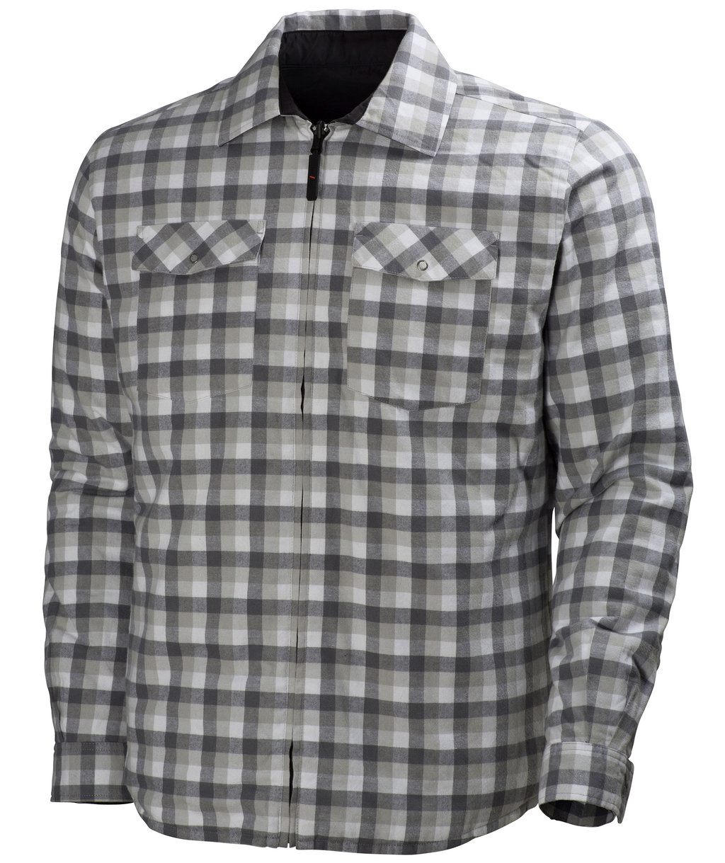 Helly Hansen Vancouver flannel shirt, Grey Checkered