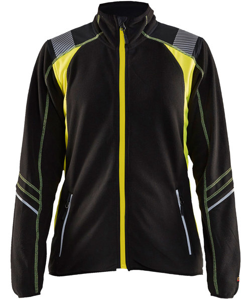 Blåkläder women's fleece jacket, Black/Yellow
