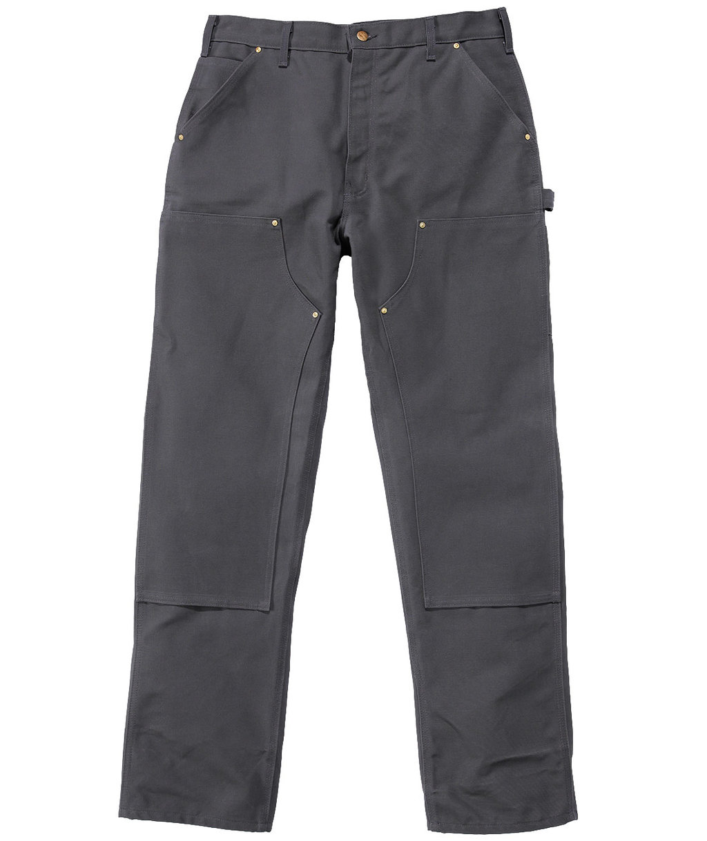 Carhartt arbejdsbukser Firm Double Front Logger Dungaree, 100% bomuld, Grå