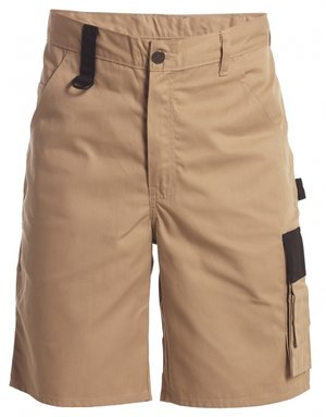 FE Engel Light arbejdsshorts, Khaki/Sort
