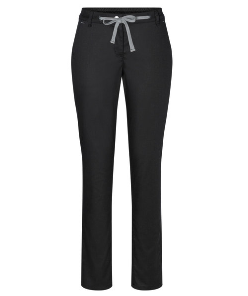 Karlowsky women's chino trousers with stretch, Black