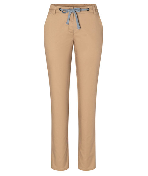 Karlowsky women's chino trousers with stretch, Sahara