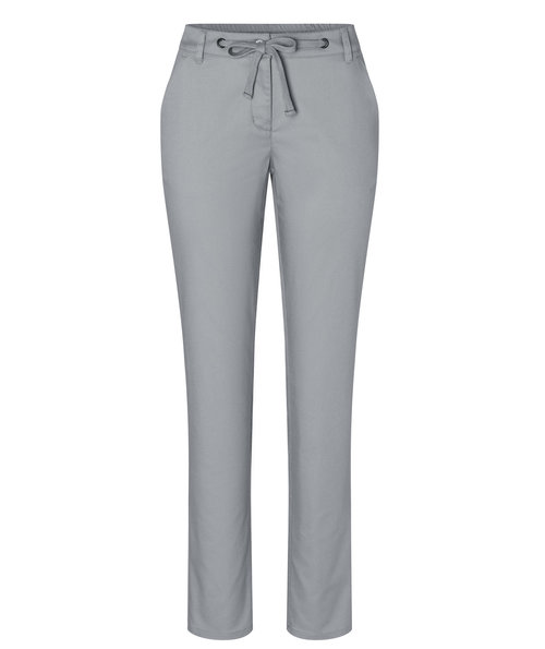 Karlowsky women's chino trousers with stretch, Steel Grey