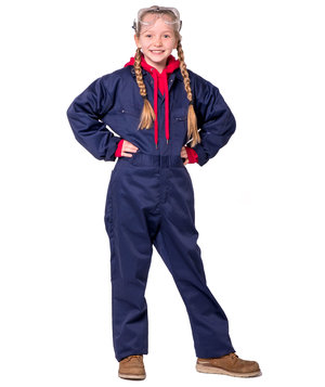 Portwest coverall for kids, Marine Blue