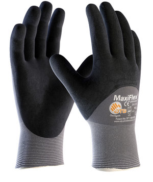 MaxiFlex Ultimate 34-875 work gloves, Black/Grey