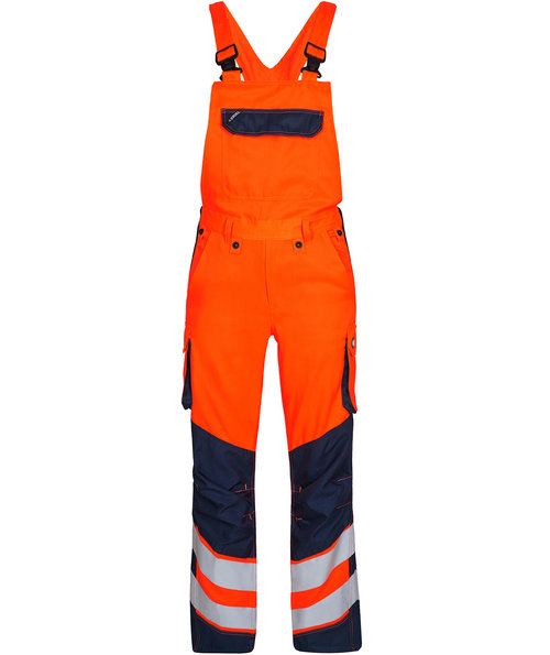 FE Engel Safety Light hängselbyxa, Varsel Orange/Marinblå