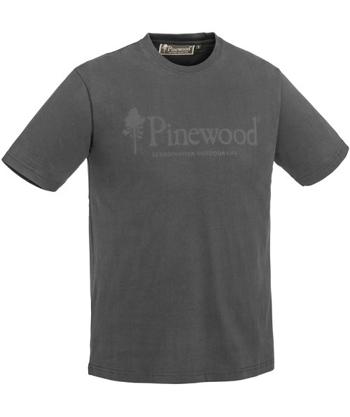 Pinewood Outdoor Life T-shirt, Dark Anthracite