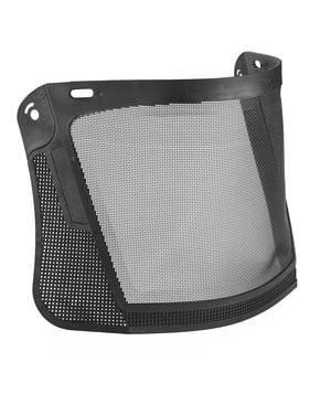 Hellberg Safe visor with nylon mesh, Black