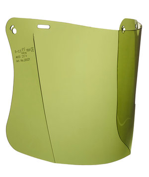 Hellberg Safe visor with toning, Green