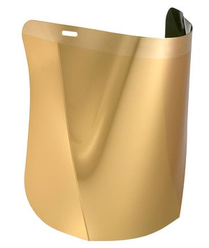 Hellberg Safe polycarbonate visor with gold coating, Gold