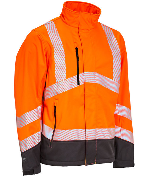 Elka Visible Xtreme softshelljacka, Varsel Orange/Svart