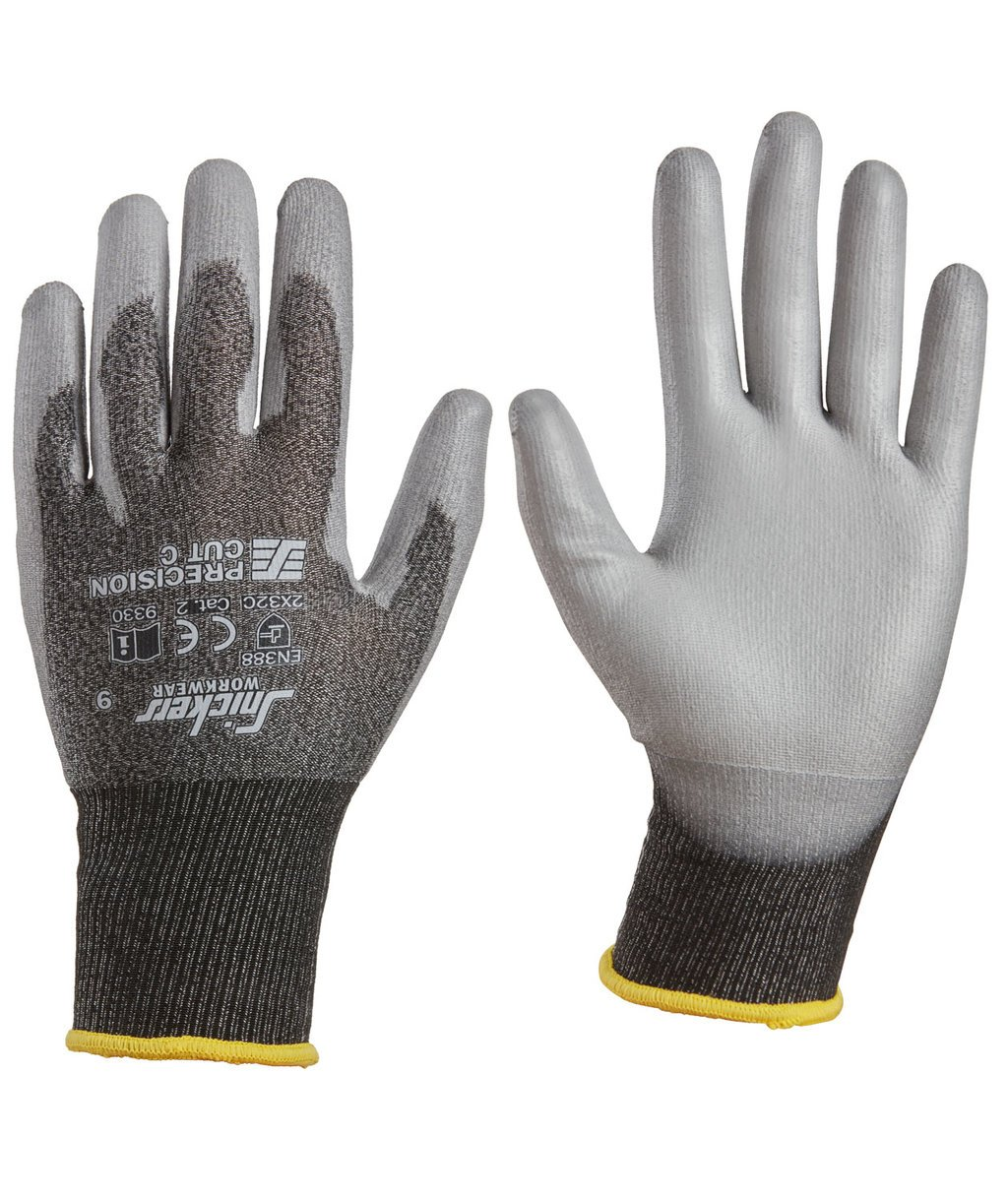 Snickers Precision Cut C cut protection gloves, Grey