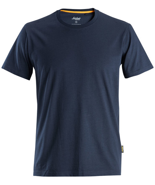 Snickers AllroundWork T-shirt, 100% bomull, Navy
