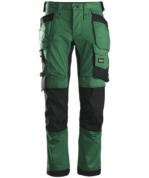 Snickers AllroundWork craftsmens trousers 6241, Forrest Green/Black
