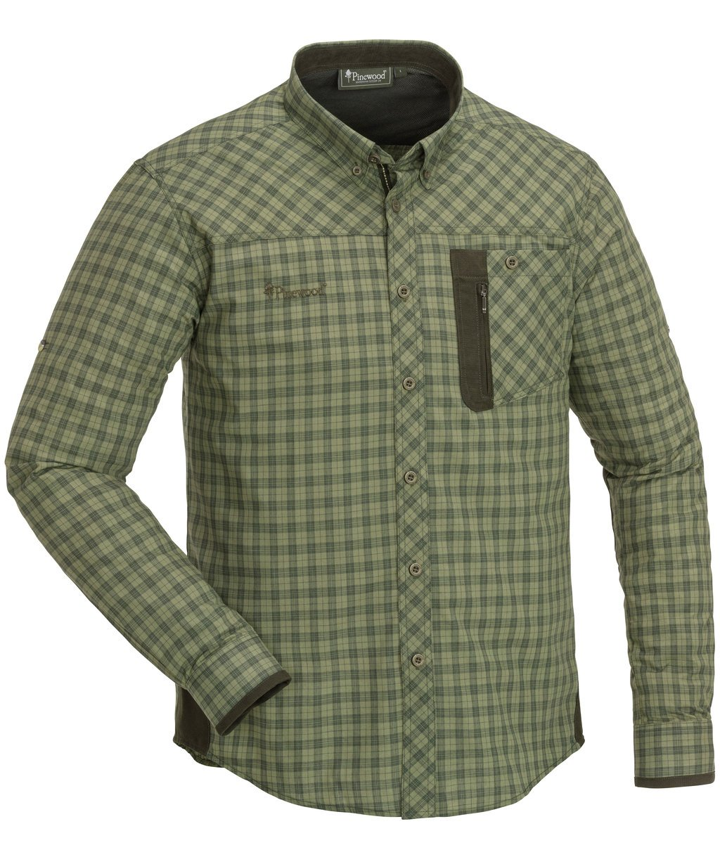 Pinewood Wolf shirt, Hunt Olive