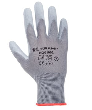 Kramp mounting gloves 3-pack, Grey
