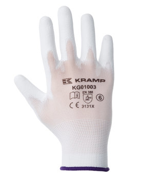 Kramp mounting gloves 3-pack, White