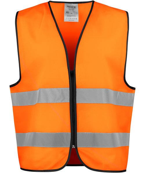 ProJob refleksvest 6709, Hi-Vis Orange/Sort