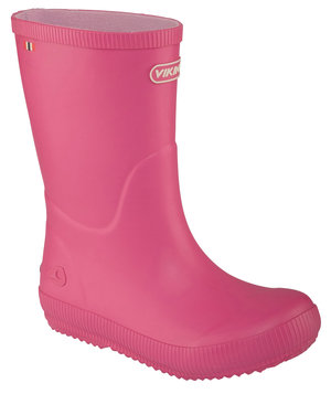 Viking Classic Indie rubber boots for kids, Fuchsia