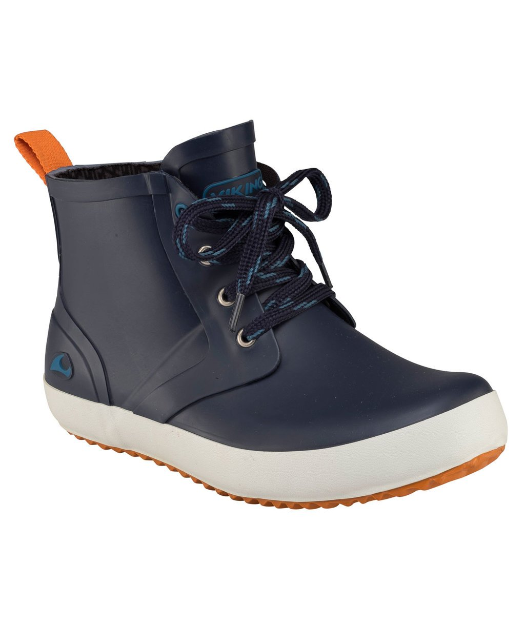 Viking Lillesand Jr gummistövlar, Navy/Orange