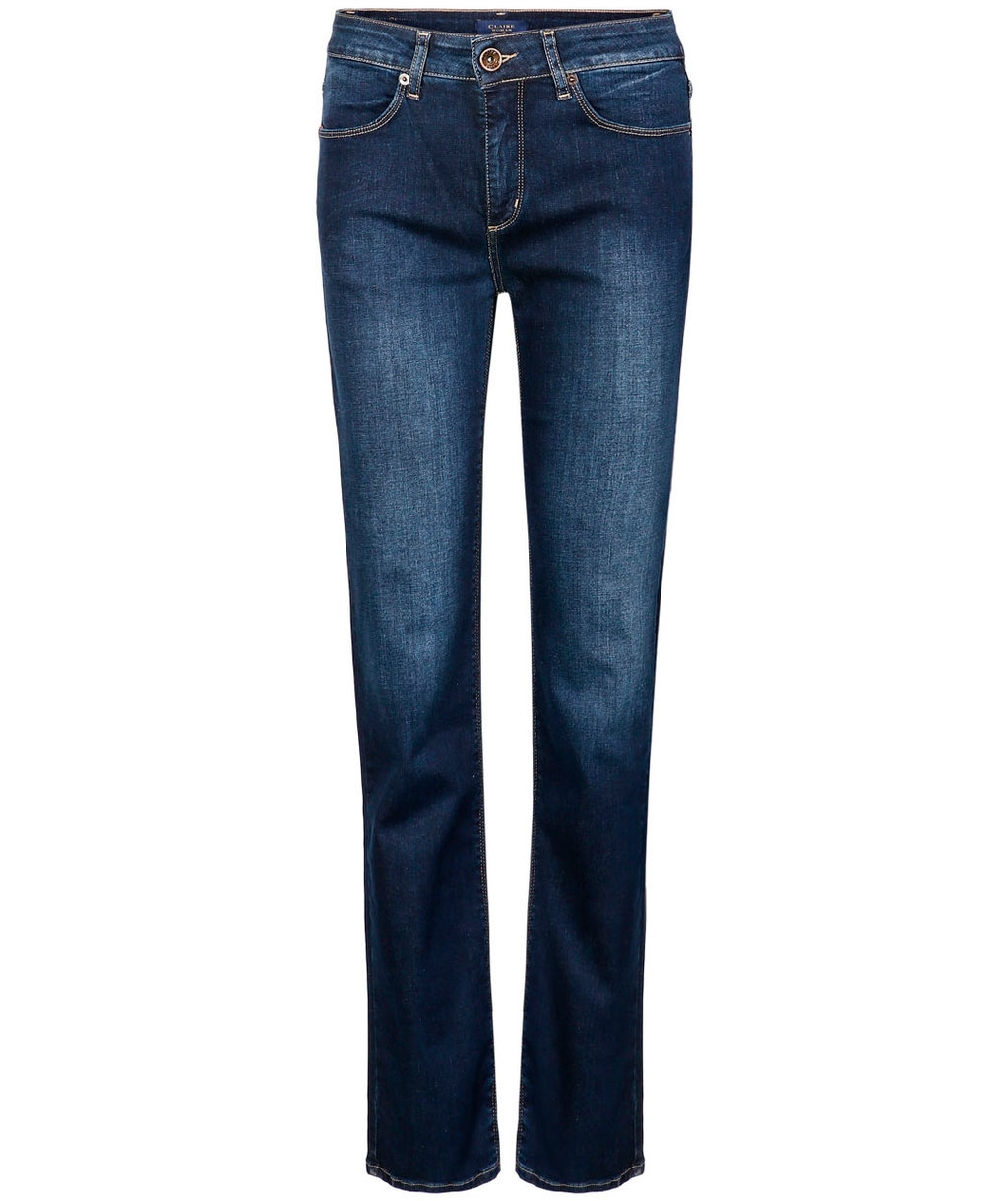 Claire Janice dame jeans, Lang modell, Denim