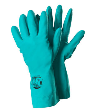 Tegera 18601 chemical protective gloves, Green