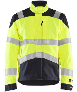 Blåkläder Multinorm work jacket, Hi-Vis Yellow/Marine Blue