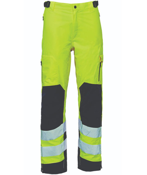 Elka Visible Xtreme stretch work trousers, Hi-Vis Yellow/Black