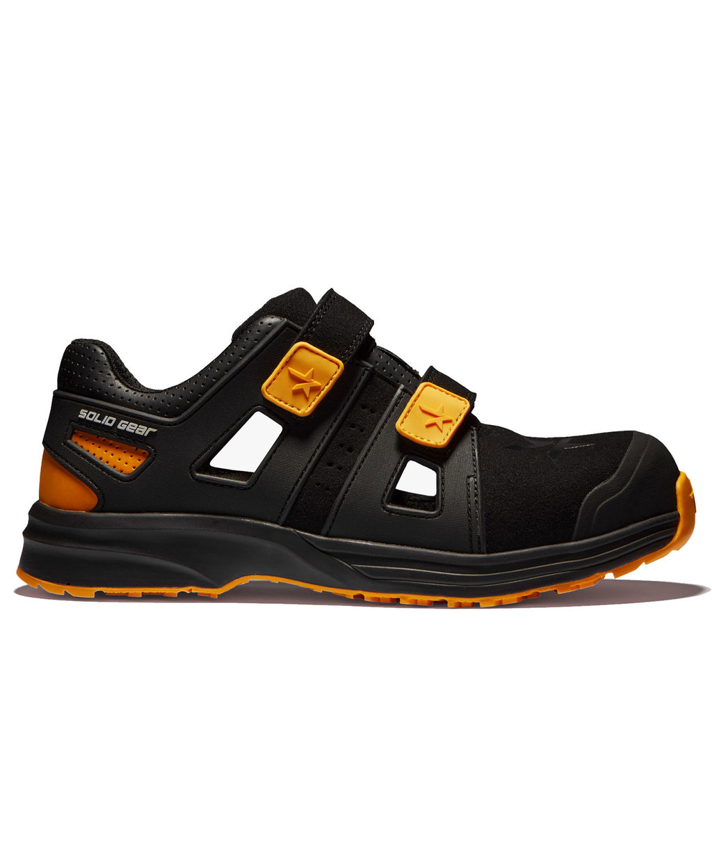 Solid Gear Dune safety sandals S1P, Black/Yellow