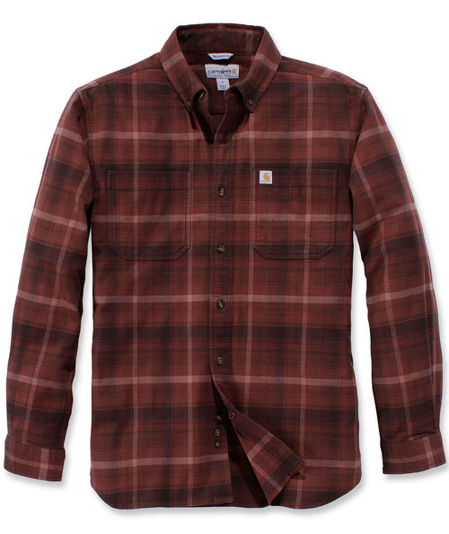 Carhartt Rugged Flex Hamilton Plaid skjorte, Rød