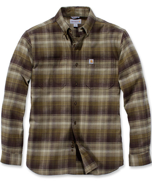 Carhartt Rugged Flex Hamilton Plaid skjorte, Fir Green
