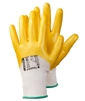 Tegera 722 work gloves, Yellow/White