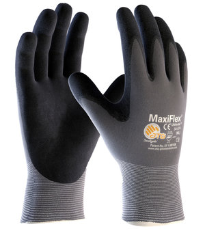 MaxiFlex Ultimate 34-874 work gloves, Grey/Black