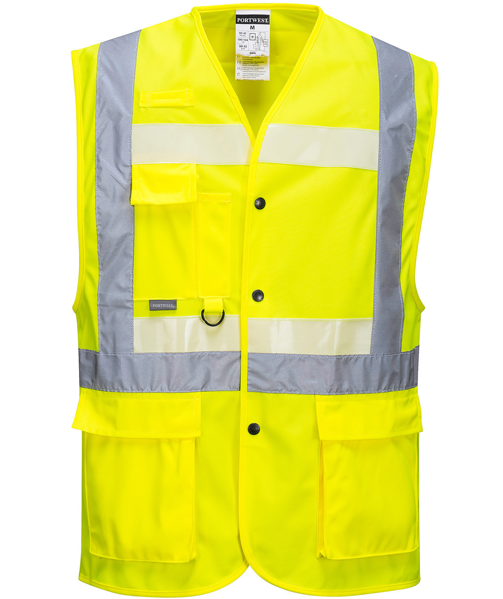 Portwest Glowtex Executive vest, Hi-Vis Gul