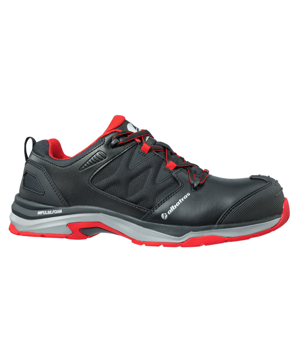 Albatros Ultratrail Black Low women's safety shoes S3, Black/Red