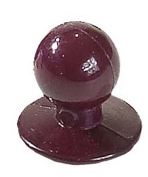 Nybo Workwear chefs buttons, Bordeaux
