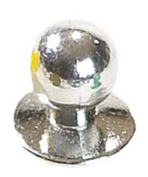 Nybo Workwear Chefs button, Silvered